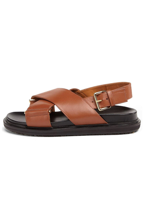 Fussbett Crossed Sandal in Maroon