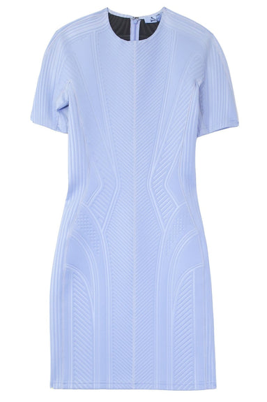 Multicolor Panel Dress in Mugler Blue