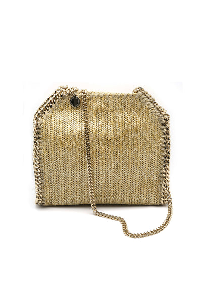 Falabella Mini Tote in Metallic Gold
