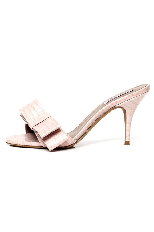 Leela Sandal in Light Pink Croco