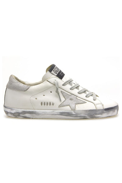 Superstar Sneaker in White/Silver