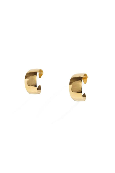 Small Anais Hoops in 14k Gold Plate