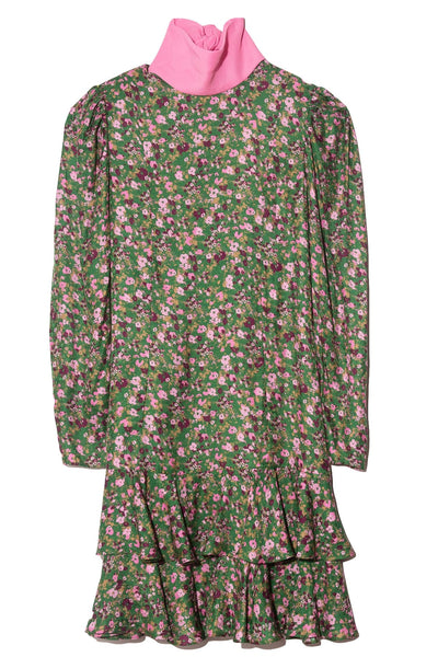 Zoe Dress in Green Pink Floral