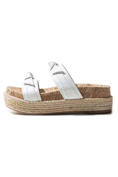 Clarita Flatform in White/Natural