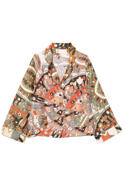Lalala Top in Mix Flying Bird Beige