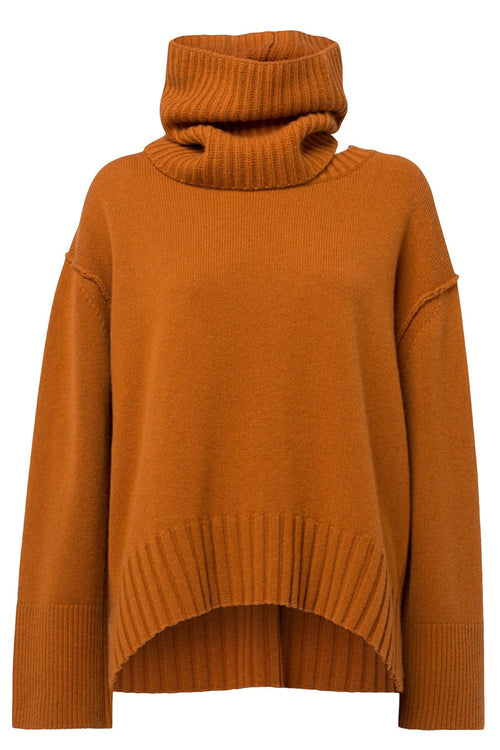 Deconstructed Look Pullover in Light Rust
