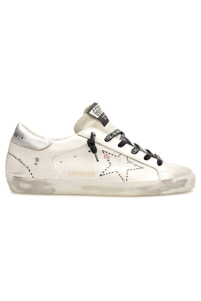 Superstar Dotted Star Sneaker in Ice/White/Silver