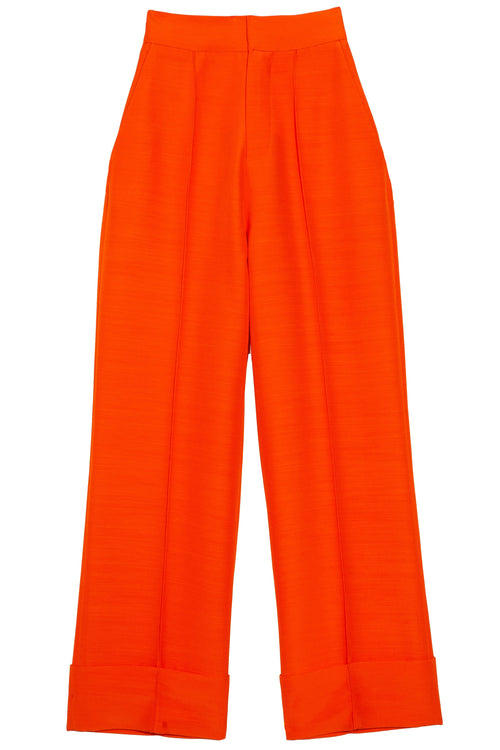 Wide Leg Pants in Orange