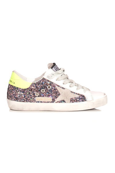Superstar Sneaker in Pink/Grey Glitter/Ice Star