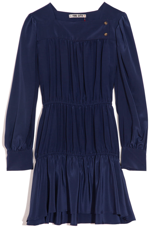 Alessandra Silk Exclusive Dress in Navy