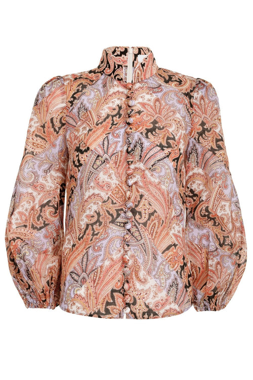 Botanica Chevron Blouse in Paisley
