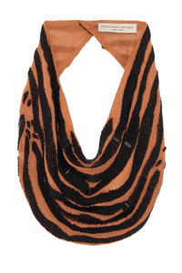 Zebra Le Charlot Necklace in Nude/Black