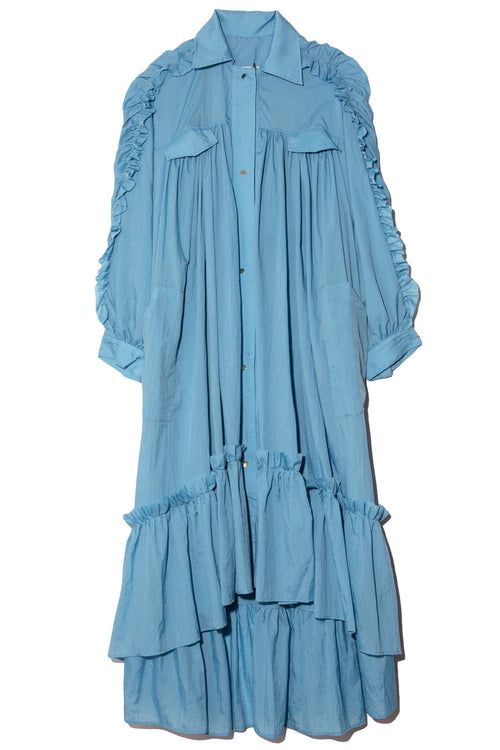 Amanda Coat Dress in Blue