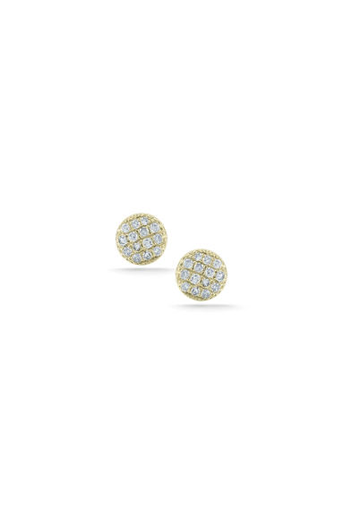 Lauren Joy Mini Disc Studs in Yellow Gold