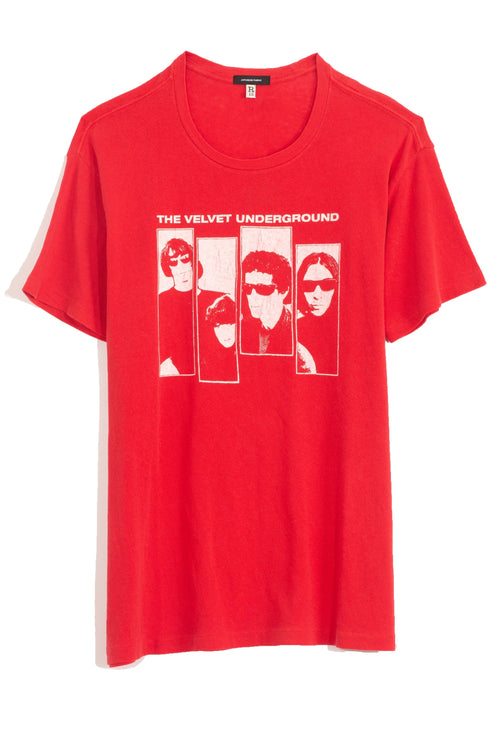 Velvet Underground Boy T in Red