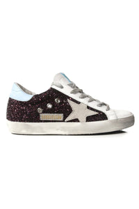 Superstar Sneakers in Wine Glitter/Cloud/Ice Suede Star