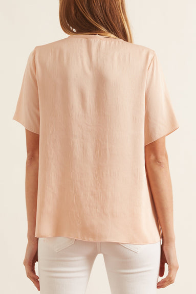 Crash Satin T-Shirt in Melone