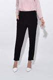 Creponne High Waist Pants in Nero