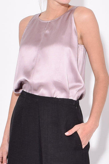 Shaded Satin Top in Glicine