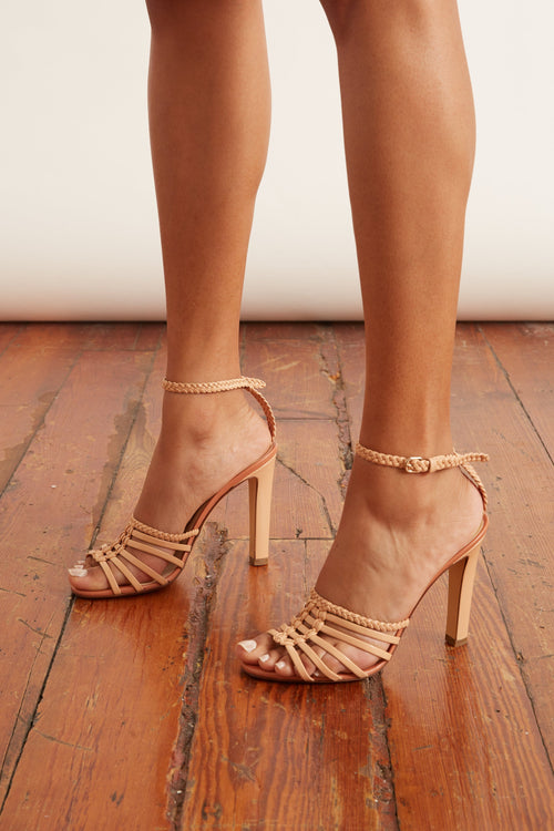 Ankle Strap Sandal in Nude