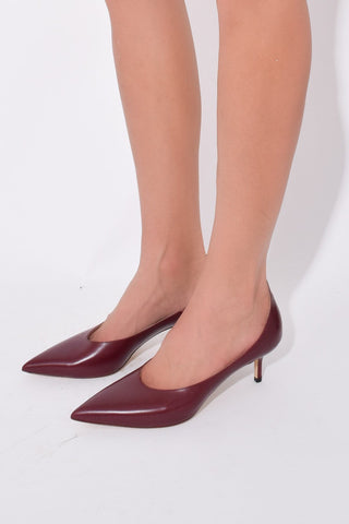 High Vamp Pump in Burgundy