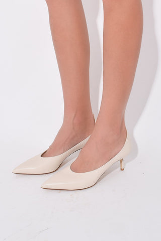 High Vamp Pump in Ivory