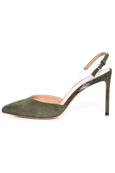Slingback Pump in Moss Green