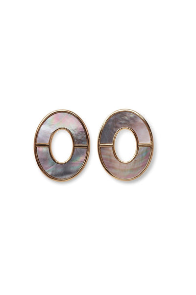 Symmetry Earrings in Iridescent