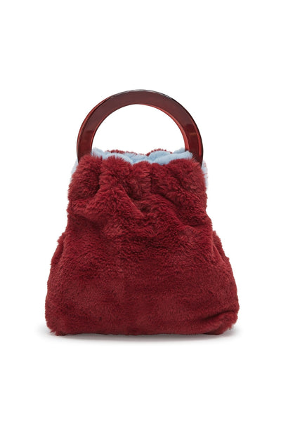 Alpine Bag in Sky/Burgundy