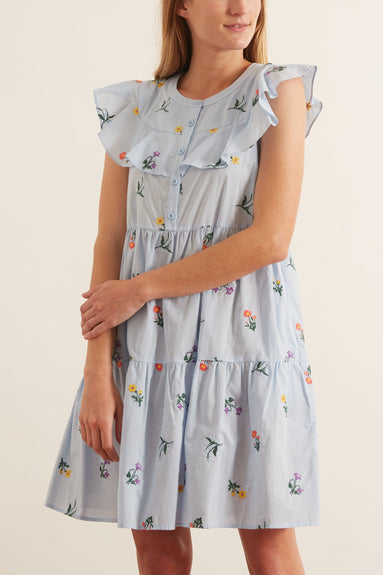 Rosalie Dress in Lake Bliss
