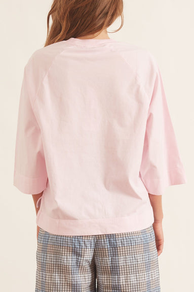 Basic Cotton Jersey Top in Pale Lilac