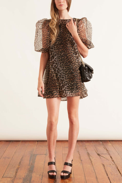 Organza Dress in Leopard