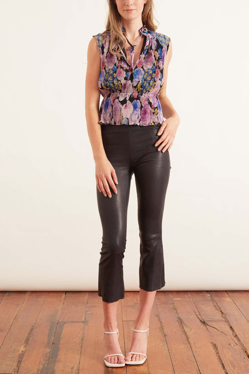 Pleated Georgette Top in Multicolor