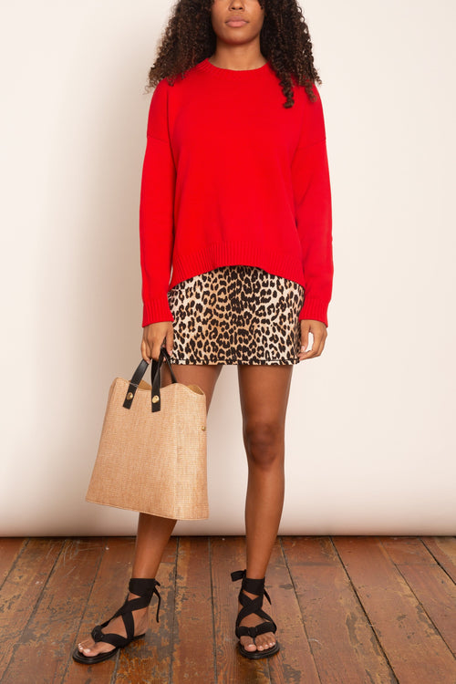 Rayon Slip Dress in Leopard
