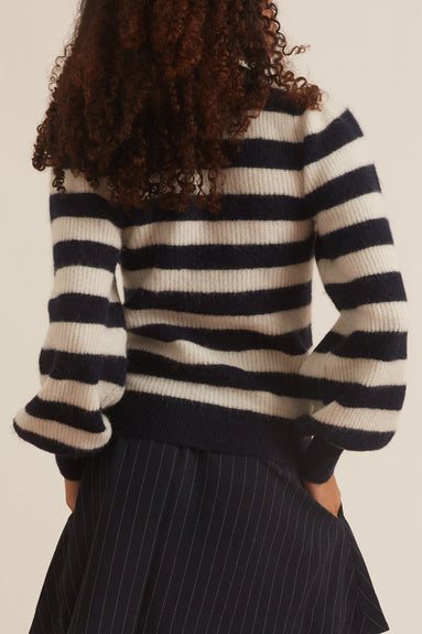 Stripe Wool Sweater in Sky Captain