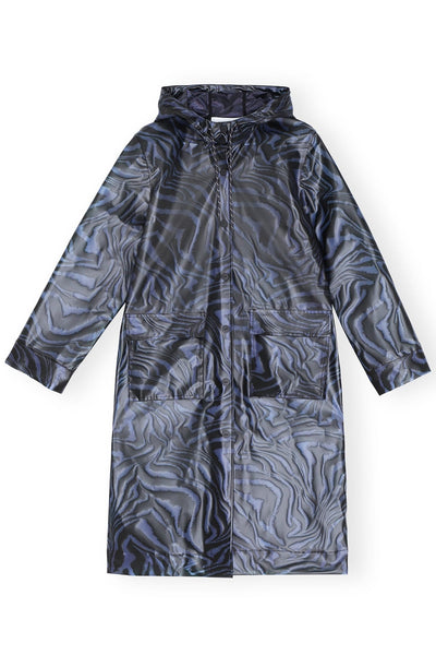 Biodegradable Trench Coat in Forever Blue
