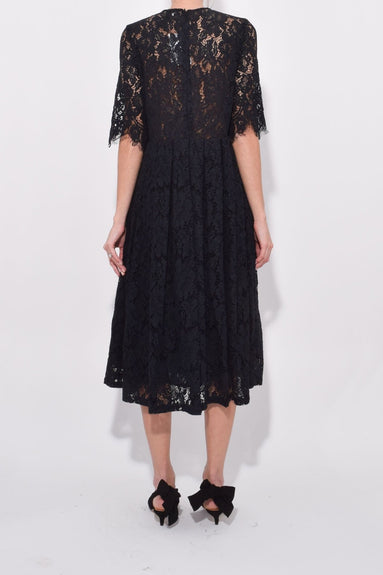 Cotton Lace Dress in Black