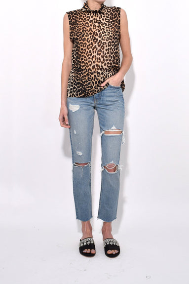 Fairfax Georgette Top in Leopard