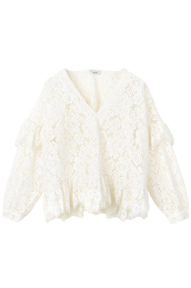 Jerome Lace Blouse in Egret