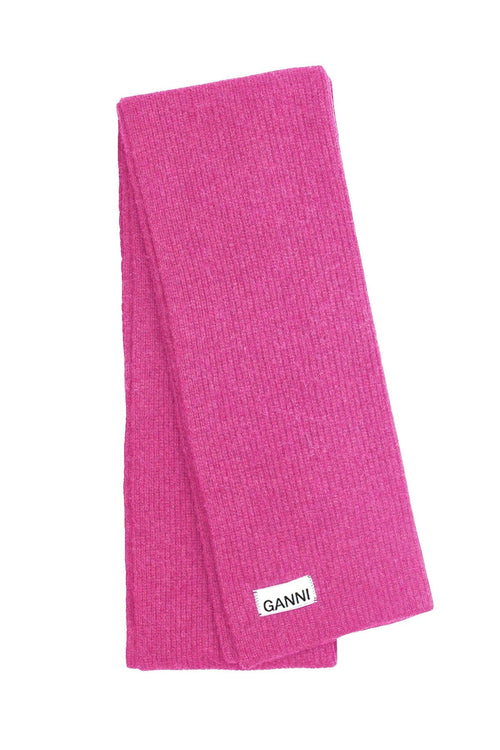Knit Scarf in Hot Pink