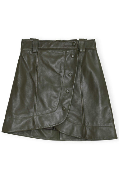 Lamb Leather Mini Skirt in Kalamata
