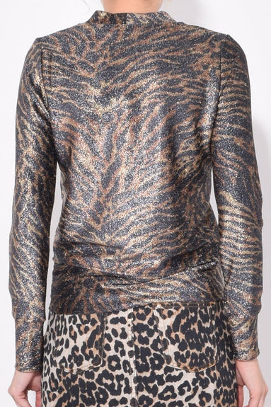 Lurex Jersey Sweater in Tiger