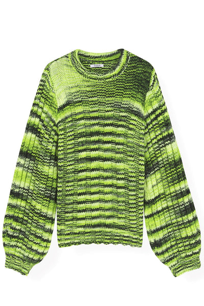 Neon Melange Knit in Neon Maize