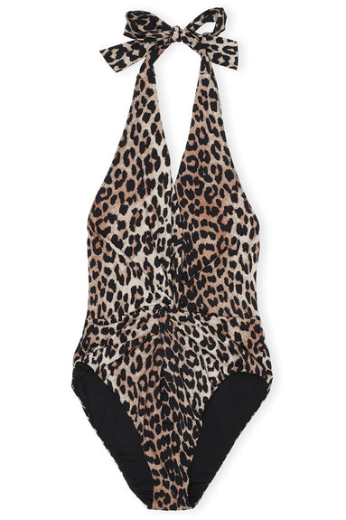 Recycled Fabric Swimsuit in Leopard
