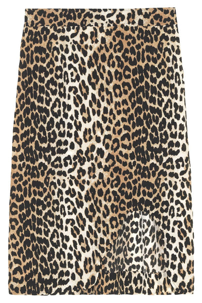 Silk Mix Skirt in Leopard