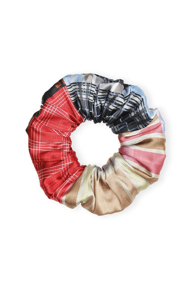 Silk Stretch Satin Scrunchie in Forever Blue