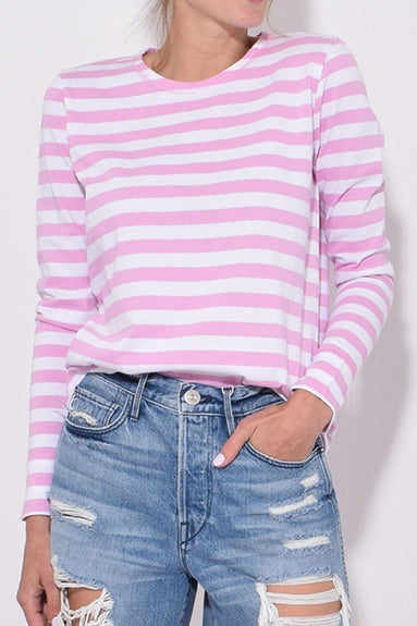 Striped Cotton Jersey Top in Moonlight Mauve