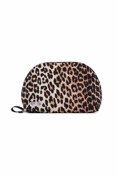 Tech Fabric Medium Clutch in Leopard