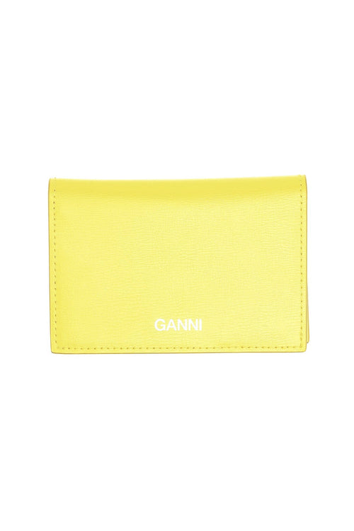 Textured Leather Clutch in Lemon