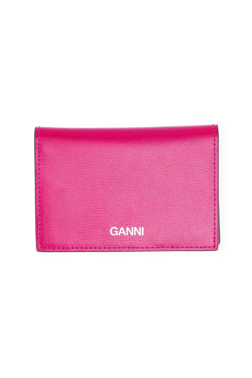 Textured Leather Clutch in Shocking Pink
